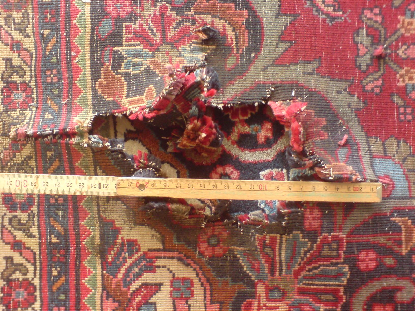 Reparatur und Restauration von Teppichen